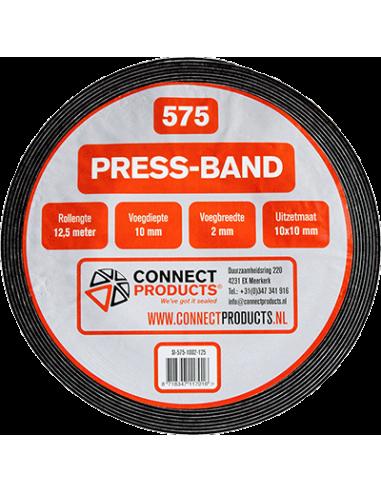 Compriband / Press-band 10/2 - 12,5mtr rol 10mm breed -10mm uitzetting. Per 30 rol